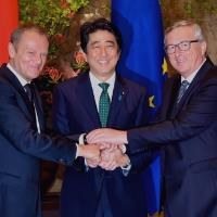Japan, EU agree to speed up talks over stalled free trade deal