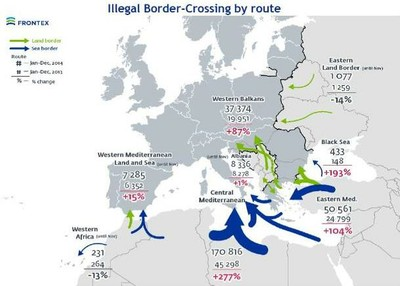 Illegal Border-Crossing by Route